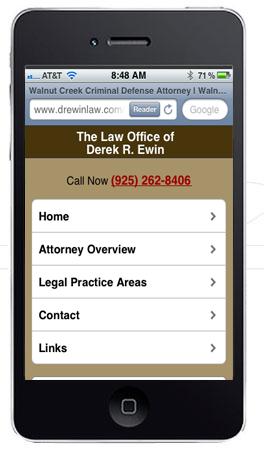 Mobile Attorney Web Design