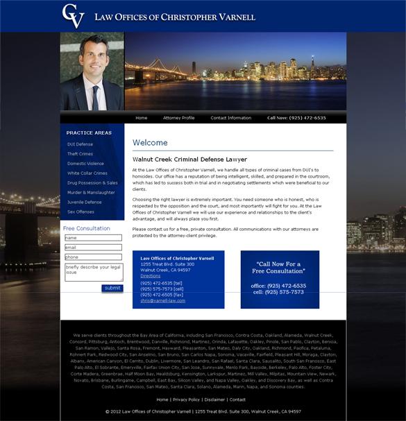 Walnut Creek Criminal Lawyer Web Design