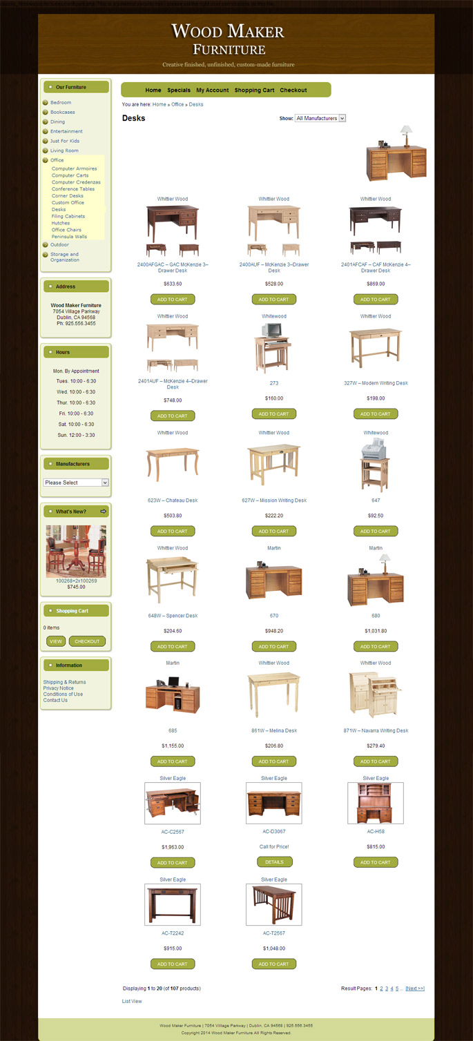Ecommerce Design for Furniture Store