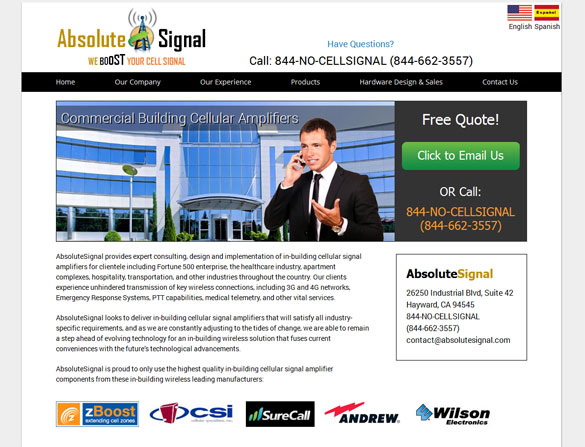 Cellular Services Web Design