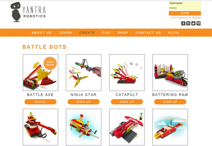 Lego Robotics Web Design
