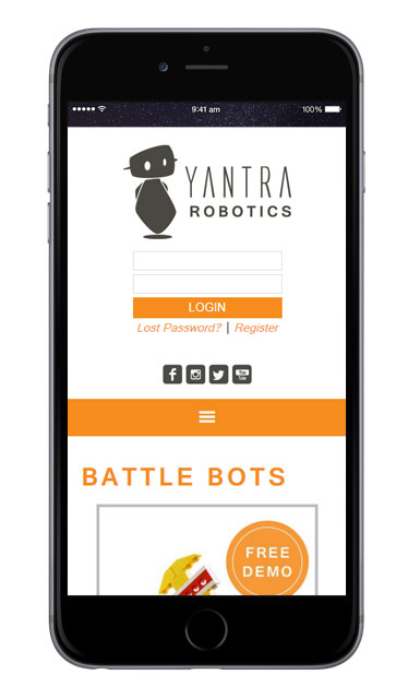 Robotics Store Mobile Design