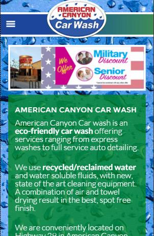 responsive car wash web design