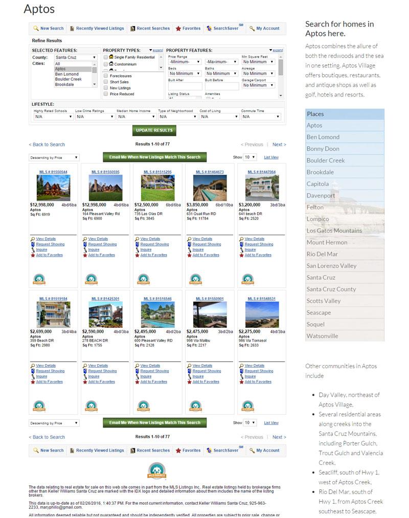 mls realtor web design
