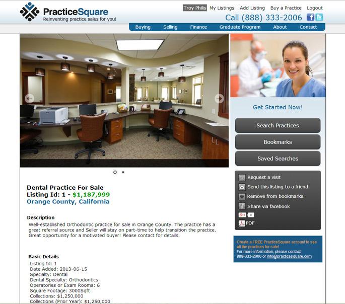 dental practice real estate web design