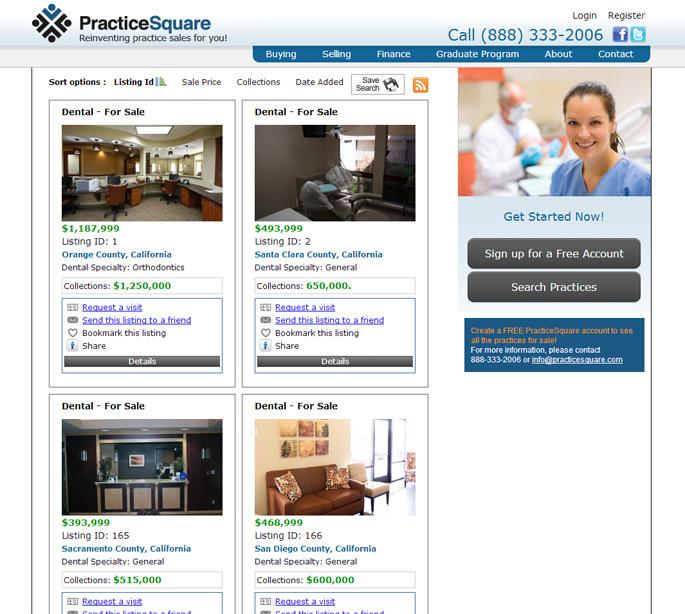 medical dental real estate website