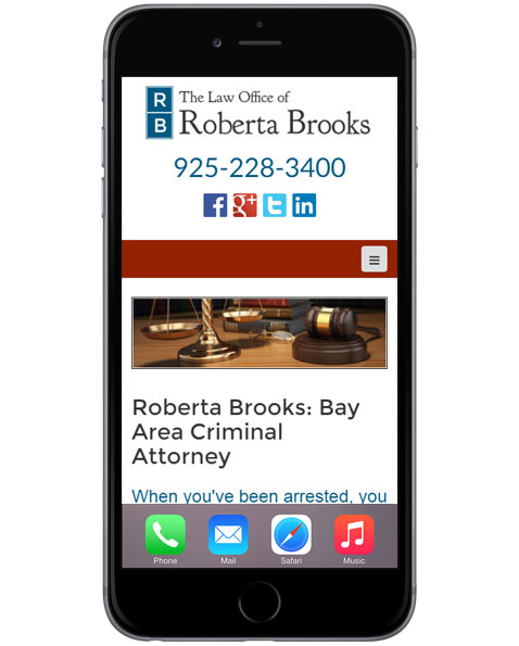 Attorney Law Firm Mobile Web Design