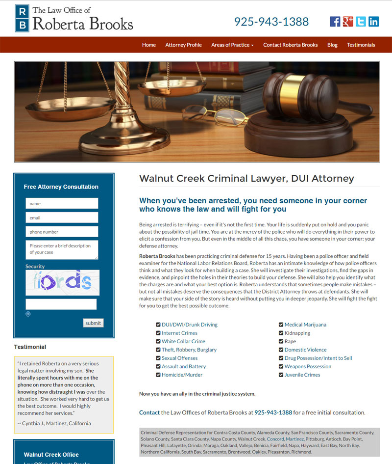 Attorney Law Firm Web Design