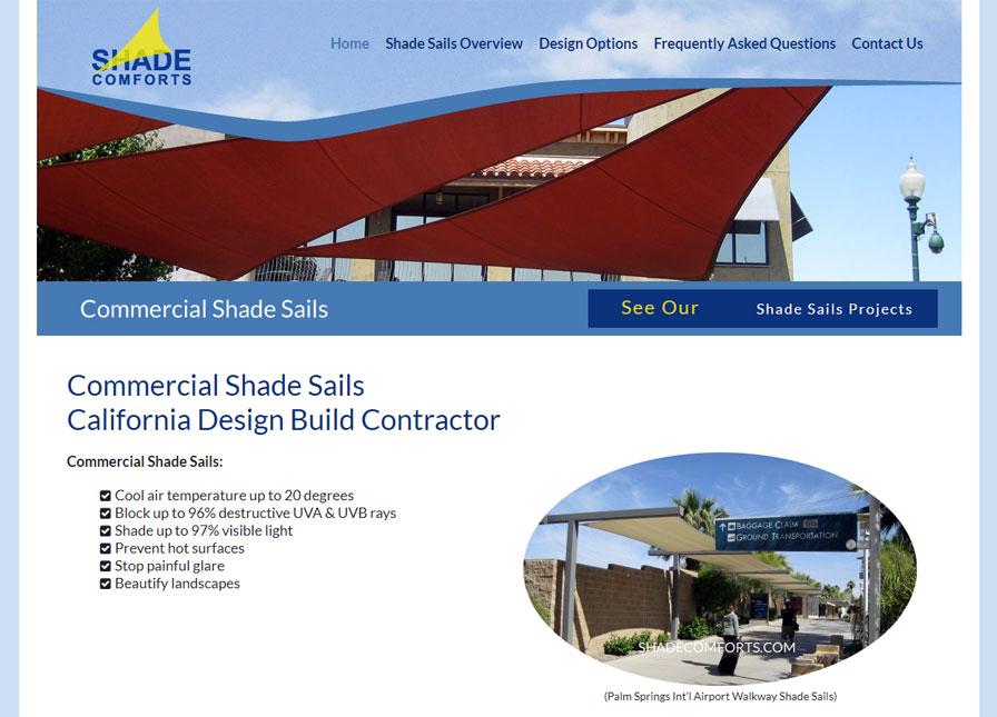 Shade Sails Construction Web Design