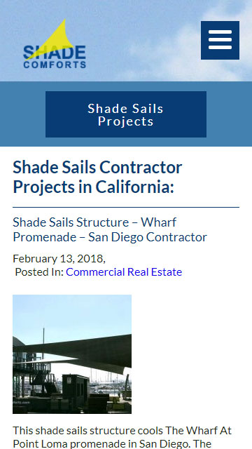 Shade Sail Construction Project Mobile