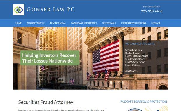 Securities Attorney Web Design