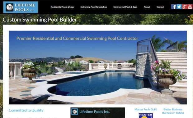 Swimming Pool Construction Website Redesign